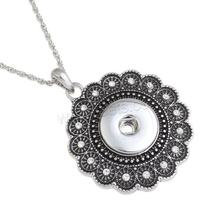 New Snap Button Necklace 1136043 Zinc Alloy iron chain 6cm extender chain platinum color plated rope chain snap button jewelry