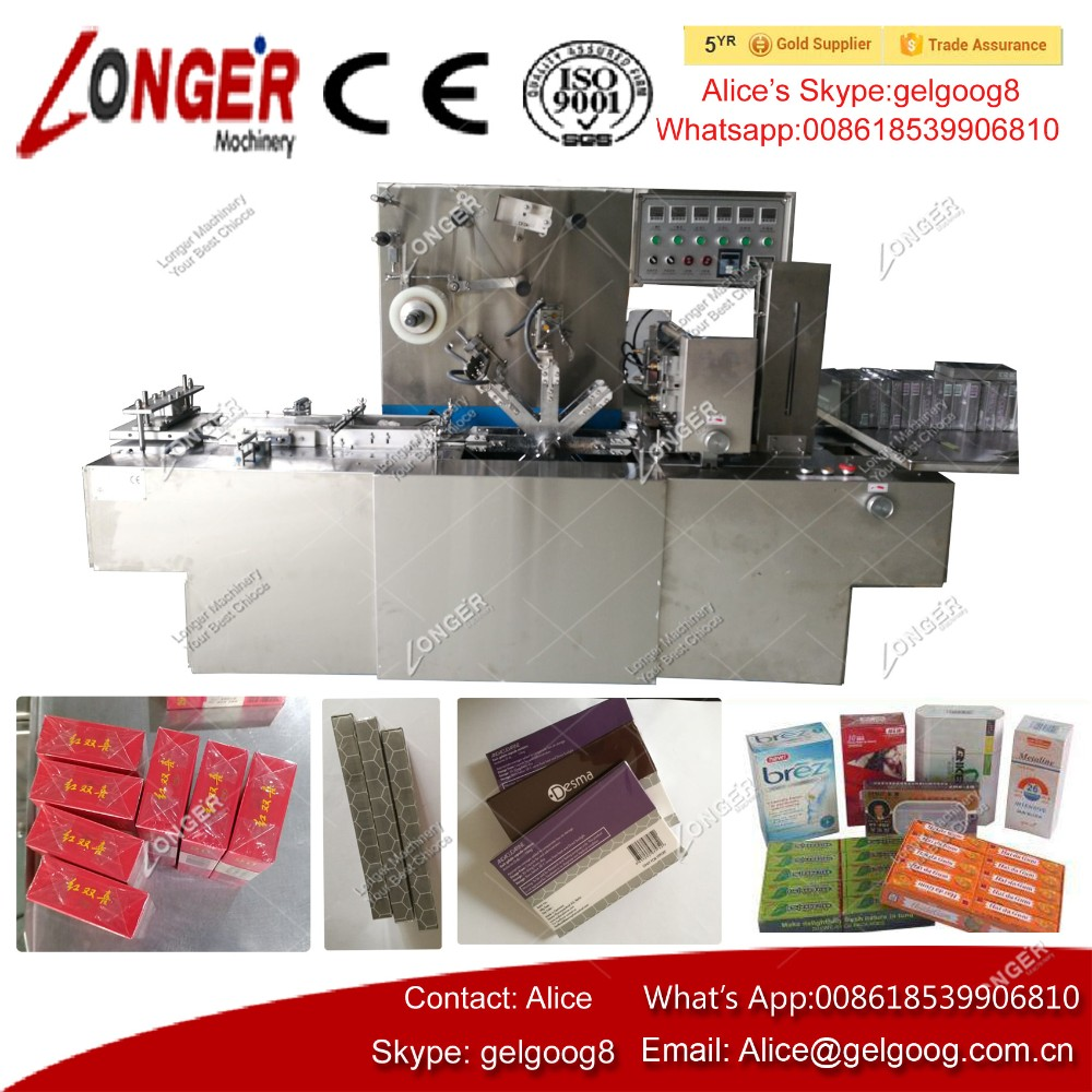 Factory Price Medicine Perfume Cosmetic Cellophane Wrapping Film Packaging Condom Box 3D Packing Machine