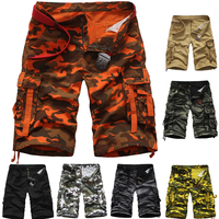 Top Selling 2016 Summer Calf-Length Cargo mens shorts Multi-pocket Men Beach cotton Shorts