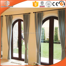 Durable aluminum clad wood round top specialty window design for home