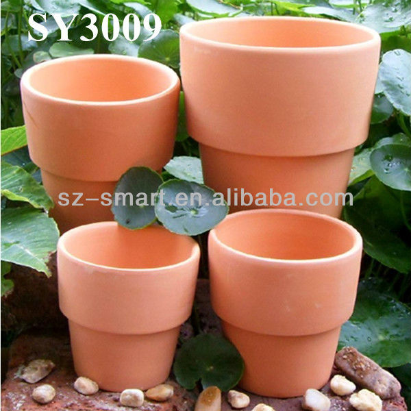 Round terracotta garden plant pot wholesale
