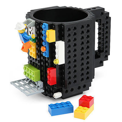 Creative build-on brick puzzle <strong>cups</strong>, Funny DIY building block coffee mugs