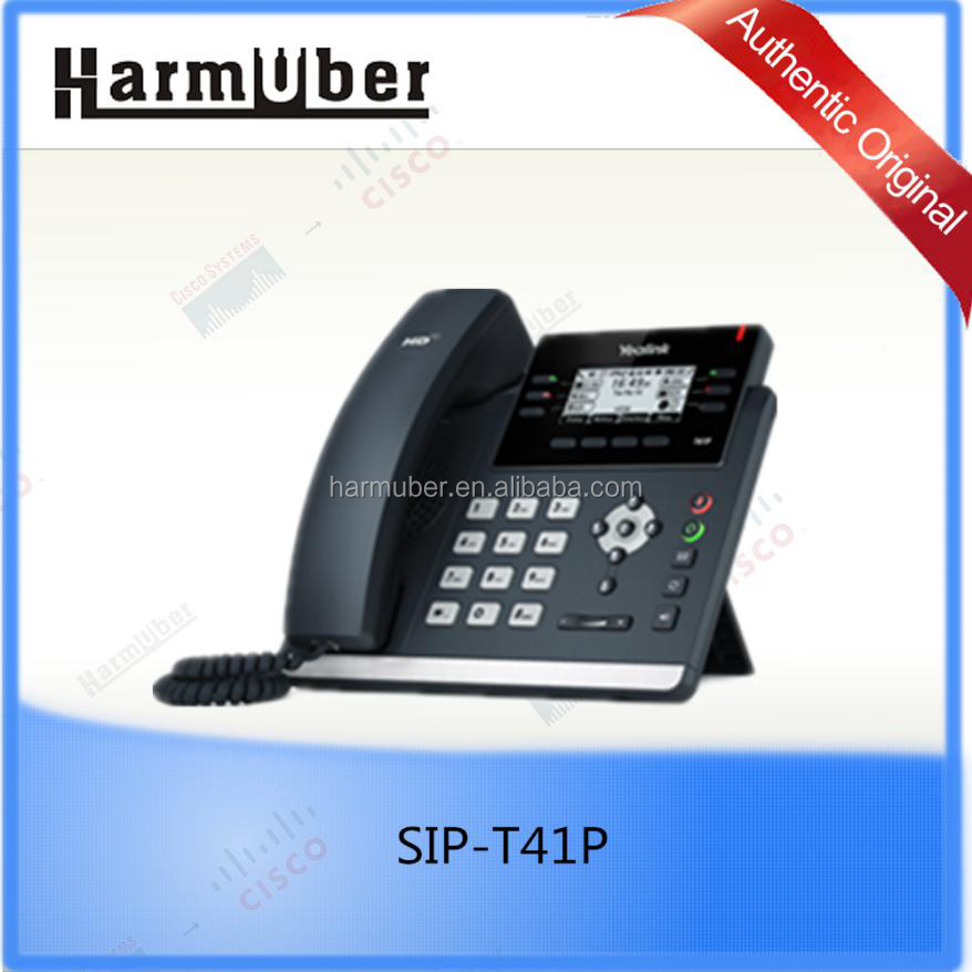 SIP-T41P is an open-SIP-based IP desktop phone which is compatible with Microsoft Skype for Business and Office 365
