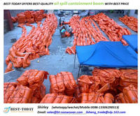 Oil Containment Type Compactible Solid Float PVC Oil Spill Booms