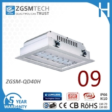 UL 40w Low bay Recessed light For Office Hall Gas Station With Philips LEDS