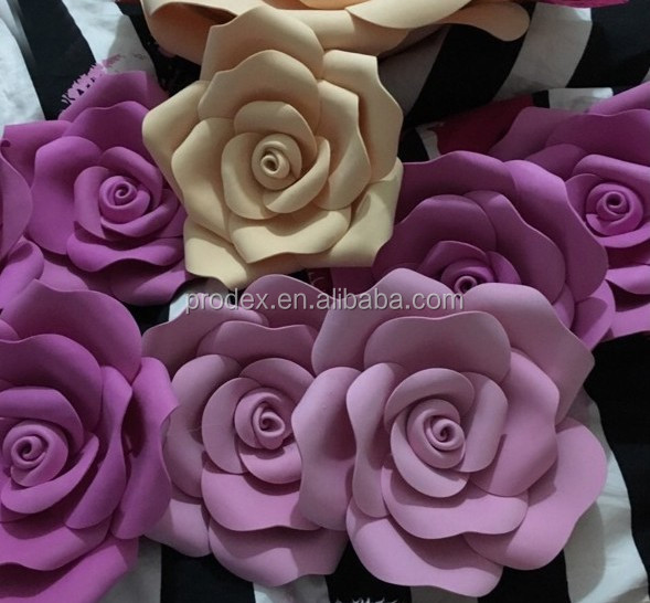 2016 hot selling Giant paper flowers wall wedding flowers
