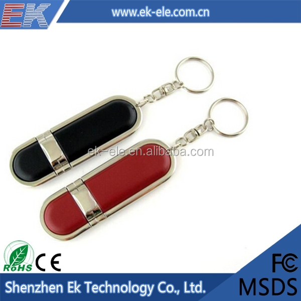 New design fashion low price colors leather usb flash drive