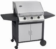 Cheapest BBQ!! Black Power Coating 3 main burner+ one side burner Gas BBQ cooking area 805X765X530MM