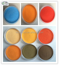 Artificial colored sand for wedding arts play