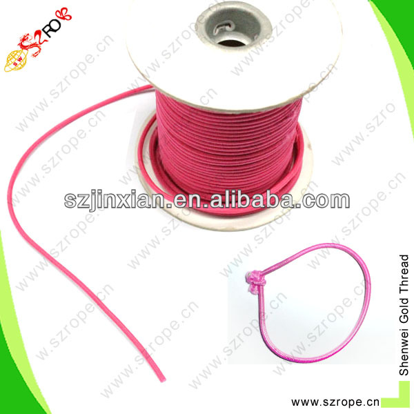2mm colored rubber string/elastic loop for hang tag