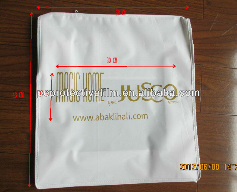 High Quality Printed White PEVA plastic zipper pillow bag