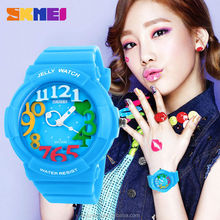2015 fashion design mixed colored Arab numbers women&girls outdoor sports 30m waterproof japan quartz watch