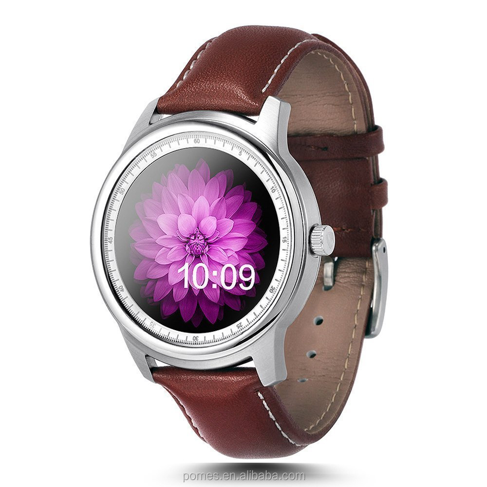 Hot android smart watch DM365 Bluetooth Smart Watch IPS Full View & Leather Strap Pedometer Sleep Monitor for iPhone