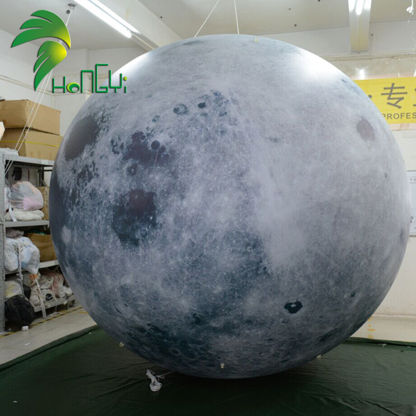 Giant inflatable led lighting moon for decoration,inflatable moon planets