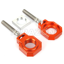 Dirt bike parts Chain Adjusters Axle Blocks for KTM EXC 125 250 530