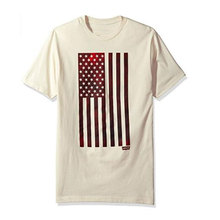 China Suppliers Soft Flag Pattern 50 Cotton 50 Polyester T Shirt