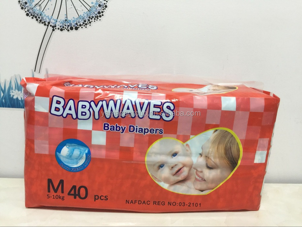 Daily use products top quality colored disposable baby diapers