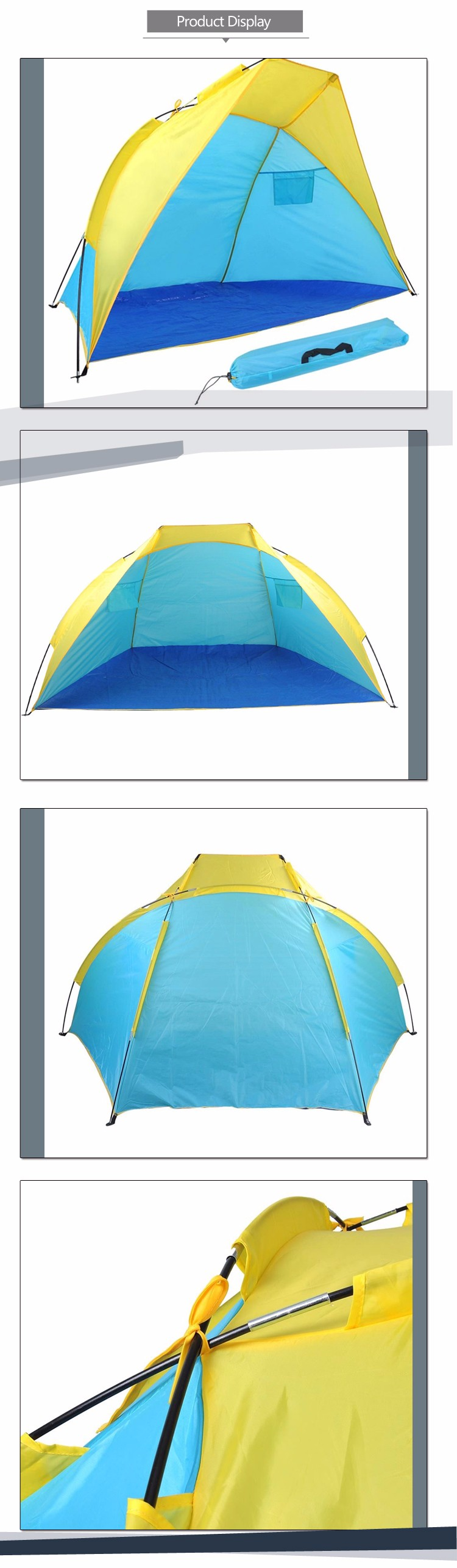 Custom Sunshine Easy Carry Mini Lycra Beach Tent