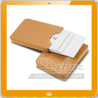 Smooth Leather Sliding Two-parts Case for Business Card