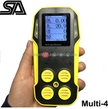 CH4/LEL CO H2S O2 Portable Multi 4 in 1 Gas Detector with UK Sensors