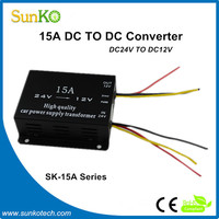 High Quality up down converter 15amp Hot sale 120v to 12v dc converter Best 28vdc power supply CE RoHS Compliant SunKo Converter