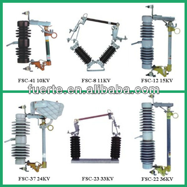 Ceramic type 10KV,15KV,24KV,27KV,33KV,38KV IEC standard medium and high voltage dropout cutout fuse