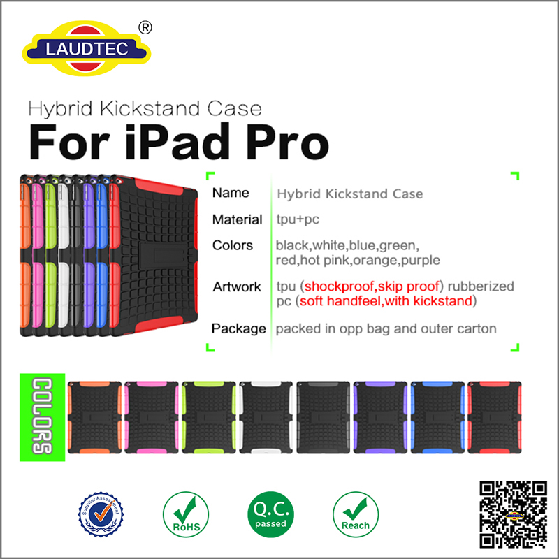 Heavy Duty Dual Layer Tough Rugged Armor Back Cover Case for iPad Pro 12.9 inch Protective Case