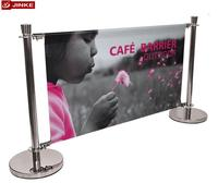 JINKE New Year Sell Customized Wind Advertising Banner Coffee Barriers