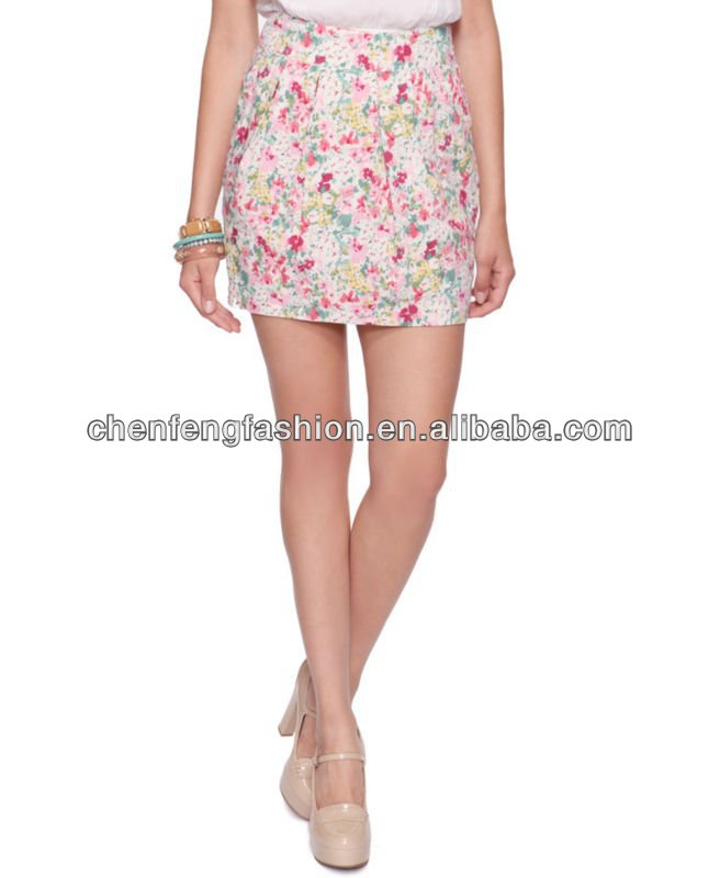 Floral Tulip Skirt CSK016