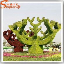 Guangzhou supplier make plants for landscape all kinds of topiary frame customize garden accessory