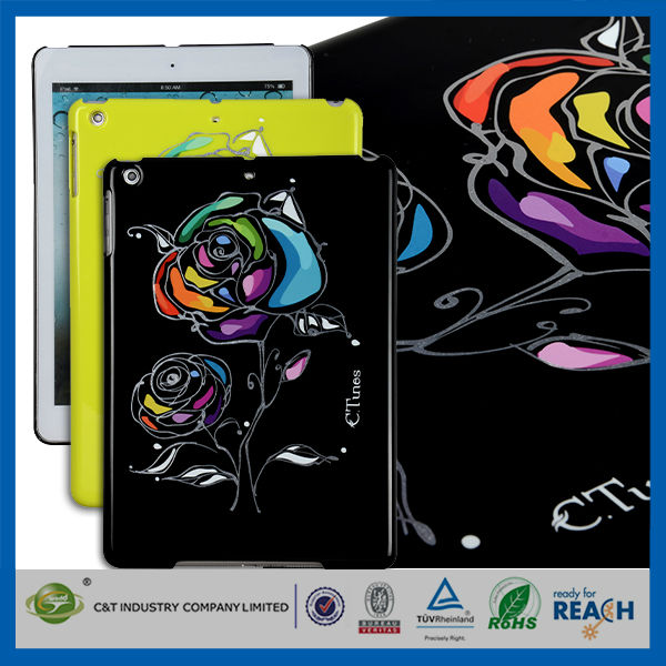 C&T Luxury rose printing guangzhou bset tablet pc accessory for ipad pro