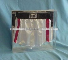 Clear Acrylic Boxing Trunks Display Cases Acrylic Sports Trunks Display Showcase