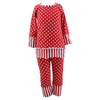 2015 Kaiyo Fall red boutique polka dot girls Christmas clothing baby children suit