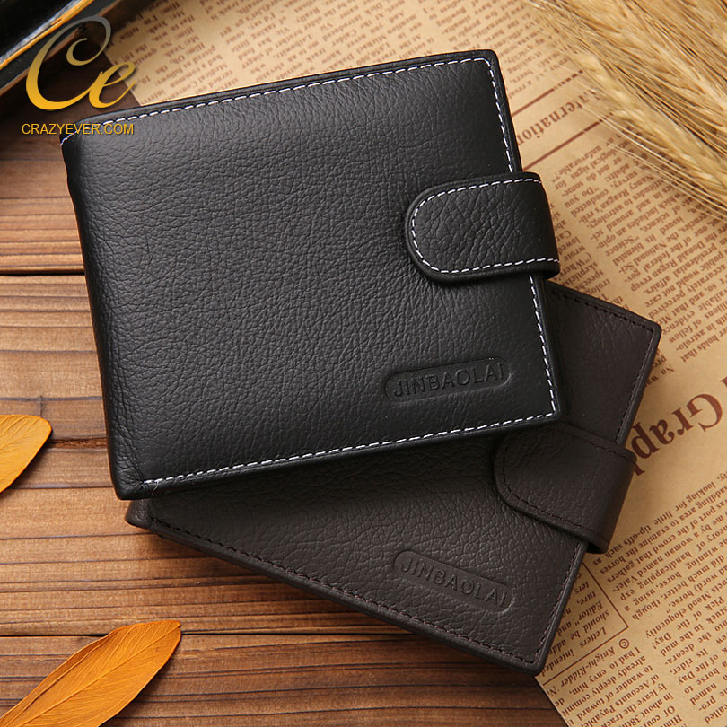 Wholesale cheap <strong>wallets</strong> with coin slot genuine leather men's purse