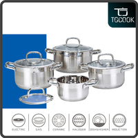 Stainless steel casserole sets 8 pcs casserole sets with glass lid