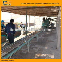 Rubber belt conveyor for soil clay solid brick making machine