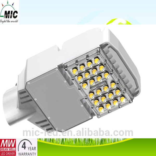 With Patent Tech. high lumen MIC 50w street led light parts with US Bridgelux chip