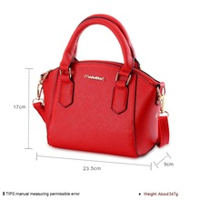 Wholesale simple PU hard leather woman's shoulder bags / hand bags with zipper