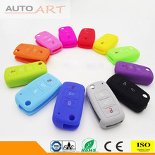 3 Buttons Colourful Key Protector Remote Flip Key Case Silicone Key Cover