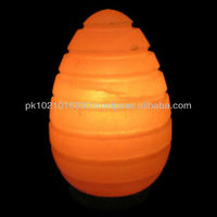 Egg With Lines salt lamp