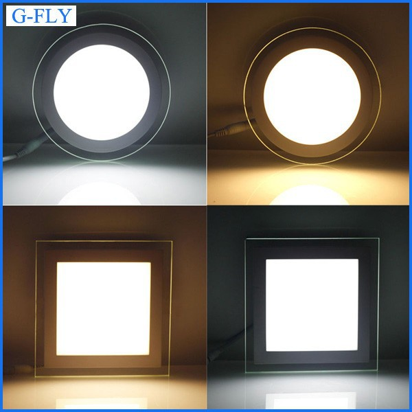 Ultra-thin flat ceiling/wall surface mounted lamp 18W square glass LED Downlight