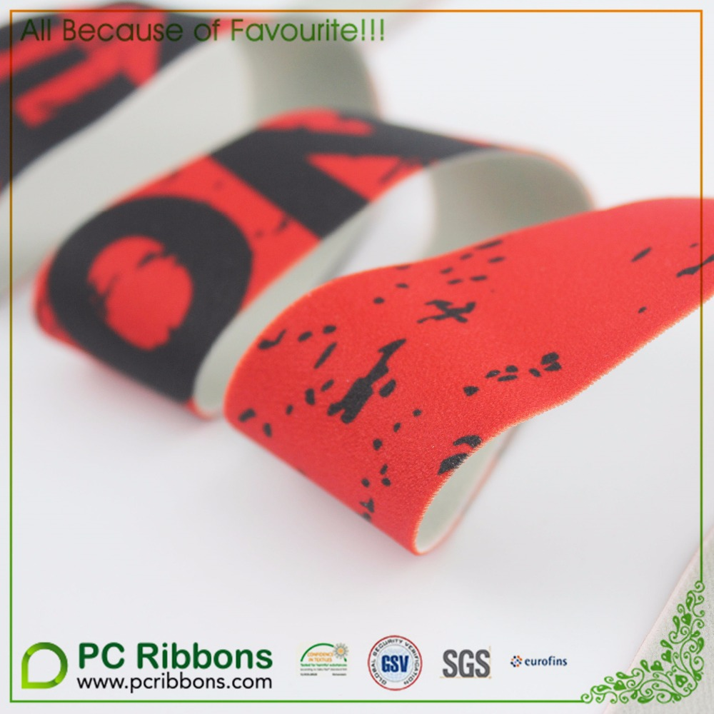 customed Fluorescent color jacquard elastic tape for garment accessories