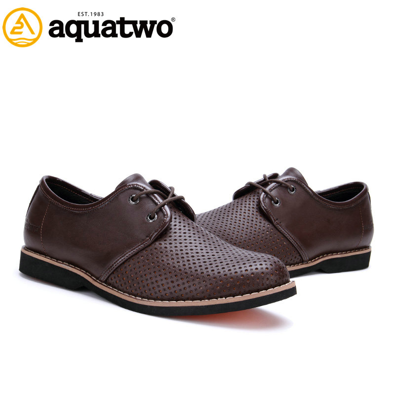China Wholesale Aquatwo Brand Casual Style Men's Handmade Leather Shoes