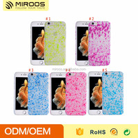 Clear pc mirror spray paint case for iphone 6 6s hot sale in the market