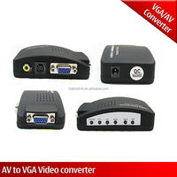 Best sell High Resolution TV DVD AV Composite RCA S-Video To VGA Monitor PC laptop Video Adapter Converter switch box
