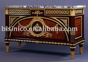 french marquetry furniture, bronze decorated chest
