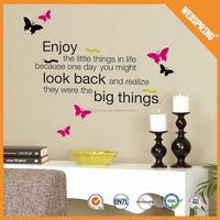 01-00036 2015 islamic quotes wall sticker wall sticker alphabet 5d home decor pvc wall sticker