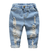 2017 spring autumn new fashion europe the united States children's boys clothing men pants hole jeans for 3-8years old