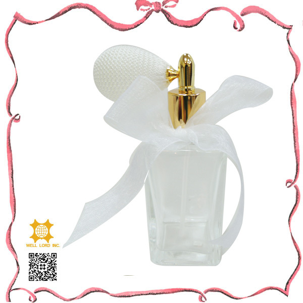 White wedding dress rush parfum clear glass 100 ml bottle