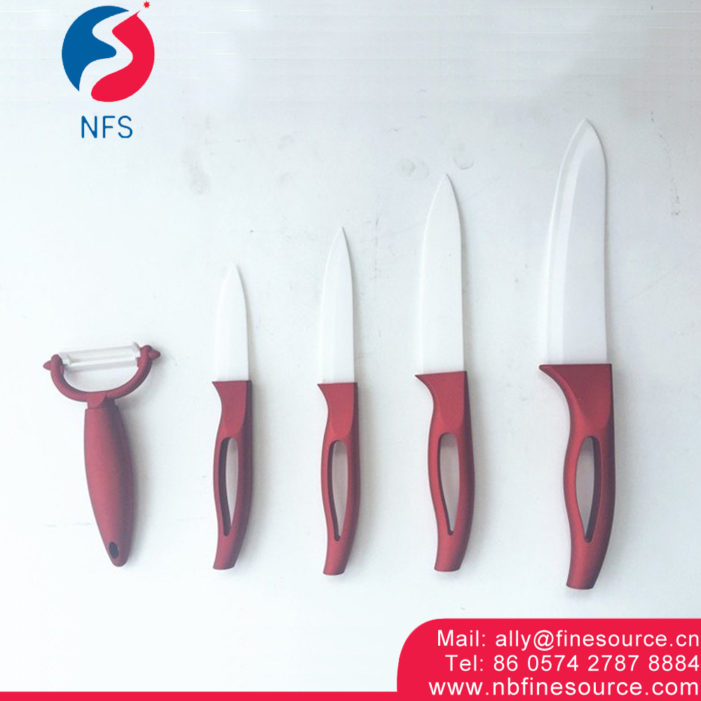 4 Knives and 1 Peeler Chinese Classic Royal 5PCS Ceramic Kitchen Knife Set